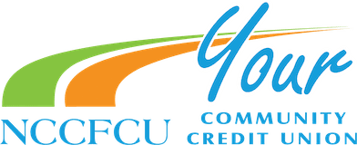 NCCFCU Your Community Credit Union - green orange and blue color logo
